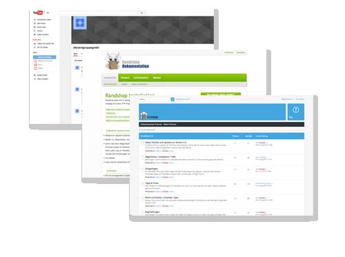 Hilfe Seiten, Forum, Wiki, Youtube